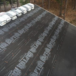 Ice and water shield underlayment