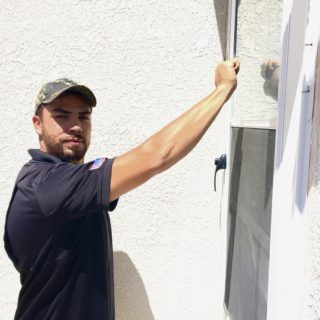 Roofer notifying homeowner the day of the install