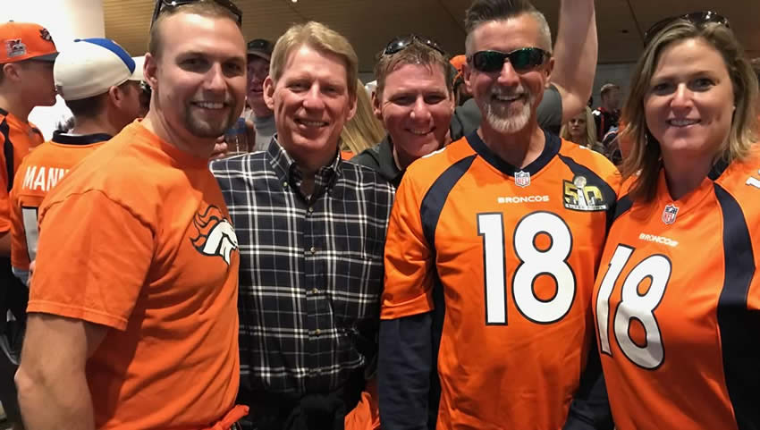 Integrity Roofing & Painting celebrate the Denver Broncos